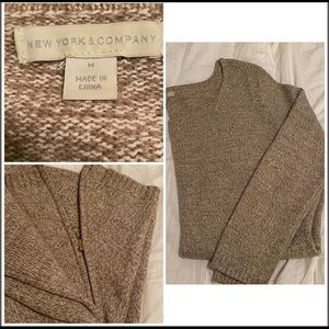 Tan sweater with Zaire zippers
